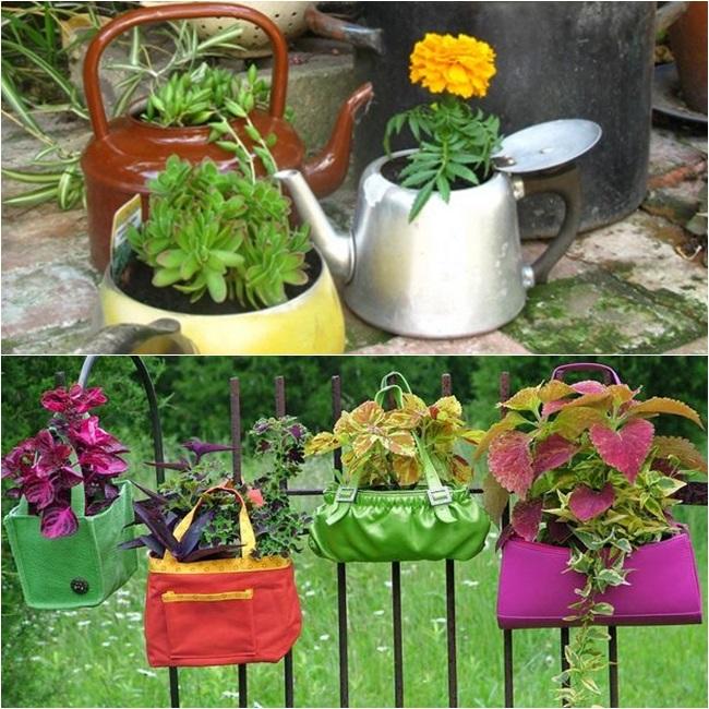 mini jardim em garrafas:Para inspirar] Pequenas hortas e jardins – Garotas Rosa Choque