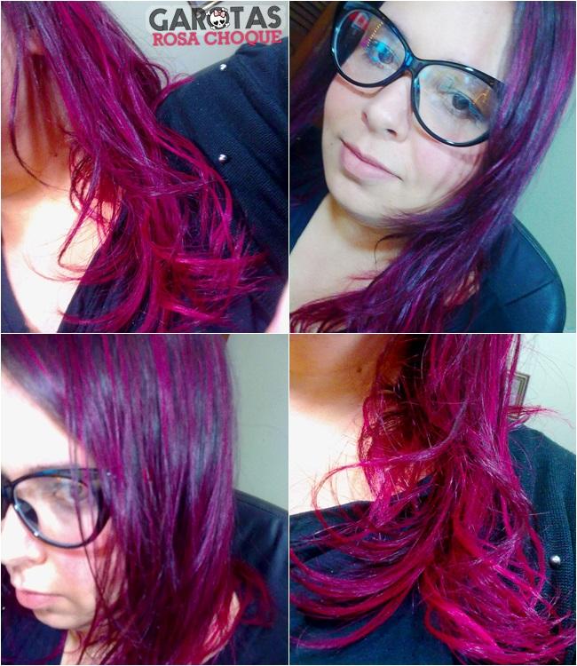 cabelos coloridos cores fantasia pink