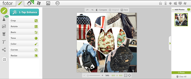 editor de imagens online